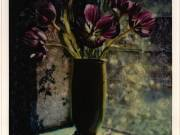 Purple Tulips in Green Vase - Juanita Hemanes © Copyright 2011