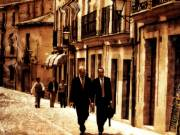 Two Men Walking, Avila, Spain, 2002 - Juanita Hemanes © Copyright 2011